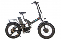 """Электровелосипед фэтбайк двухмоторный OxyVolt  FAT 20"""" All Mountain Double 2 Turbo (1000w 48v 24,5Ah) 2021"""