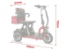 Трехколесный складной электроскутер (трицикл) Trion Shturman (500w 48v Li-ion 20Ah)
